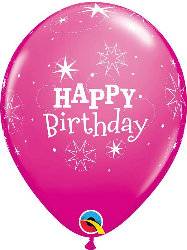 Latex Balloons Happy Birthday Pink