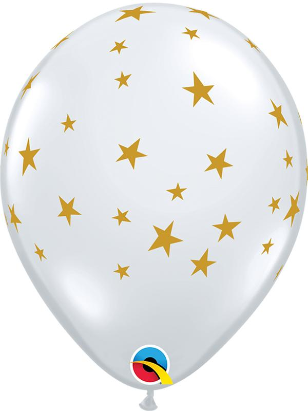 Latex Balloons Contempo Stars Clear