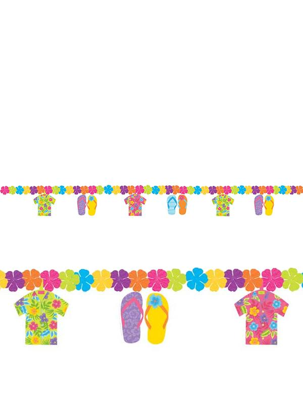 Hawaiian Flip Flop Flower Garland