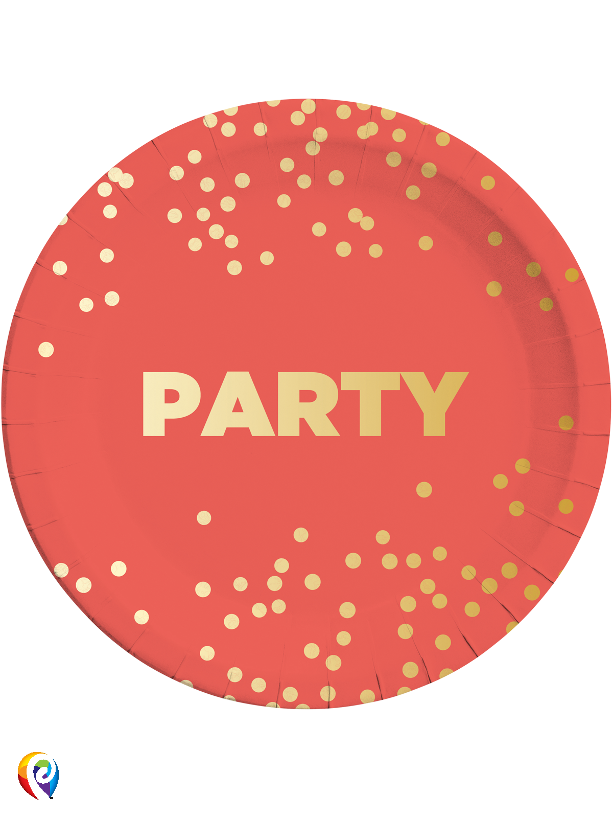 Paper Plates Party Dots Gold