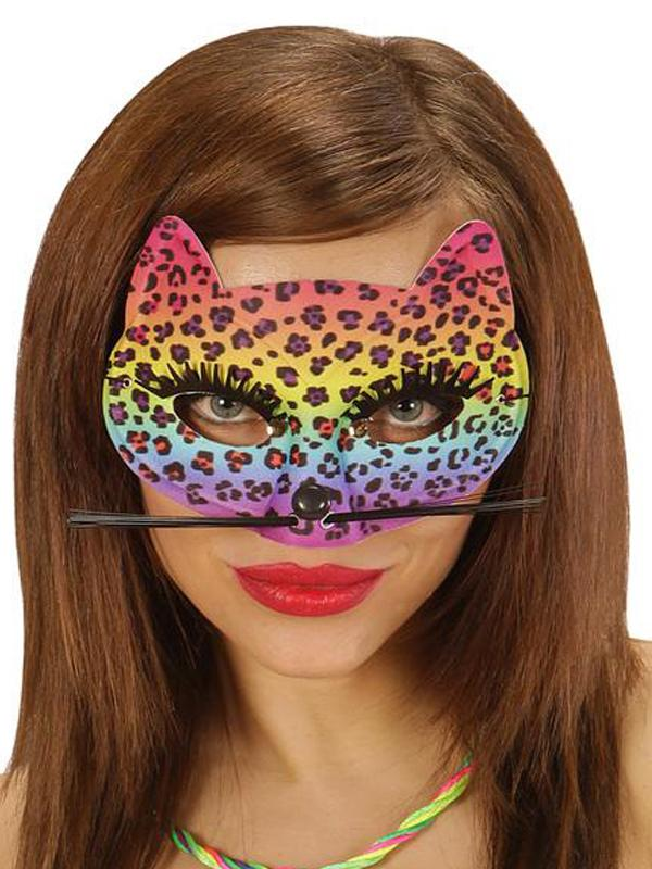 Rainbow Leopard Eye Mask
