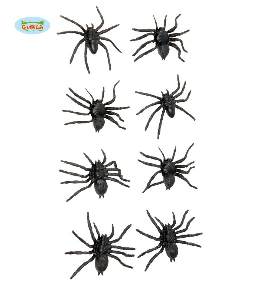 Bag of 8 Spiders 6cm
