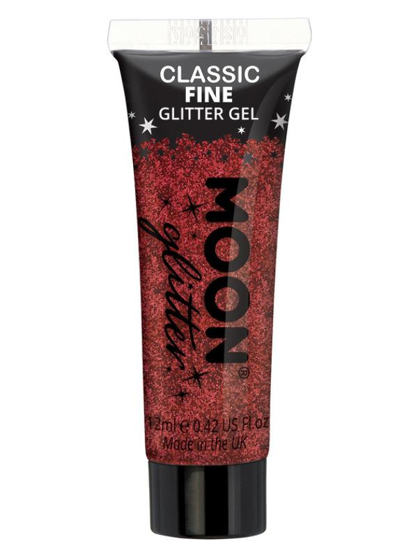 Glitter Face & Body Gel Red
