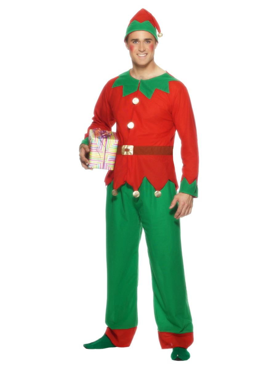 Elf Costume Red & Green Economy