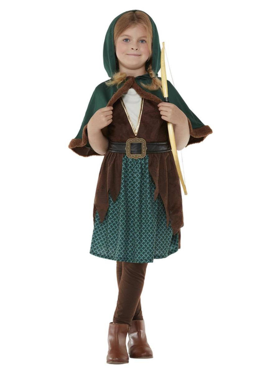 Kids Deluxe Forest Archer Girl Costume