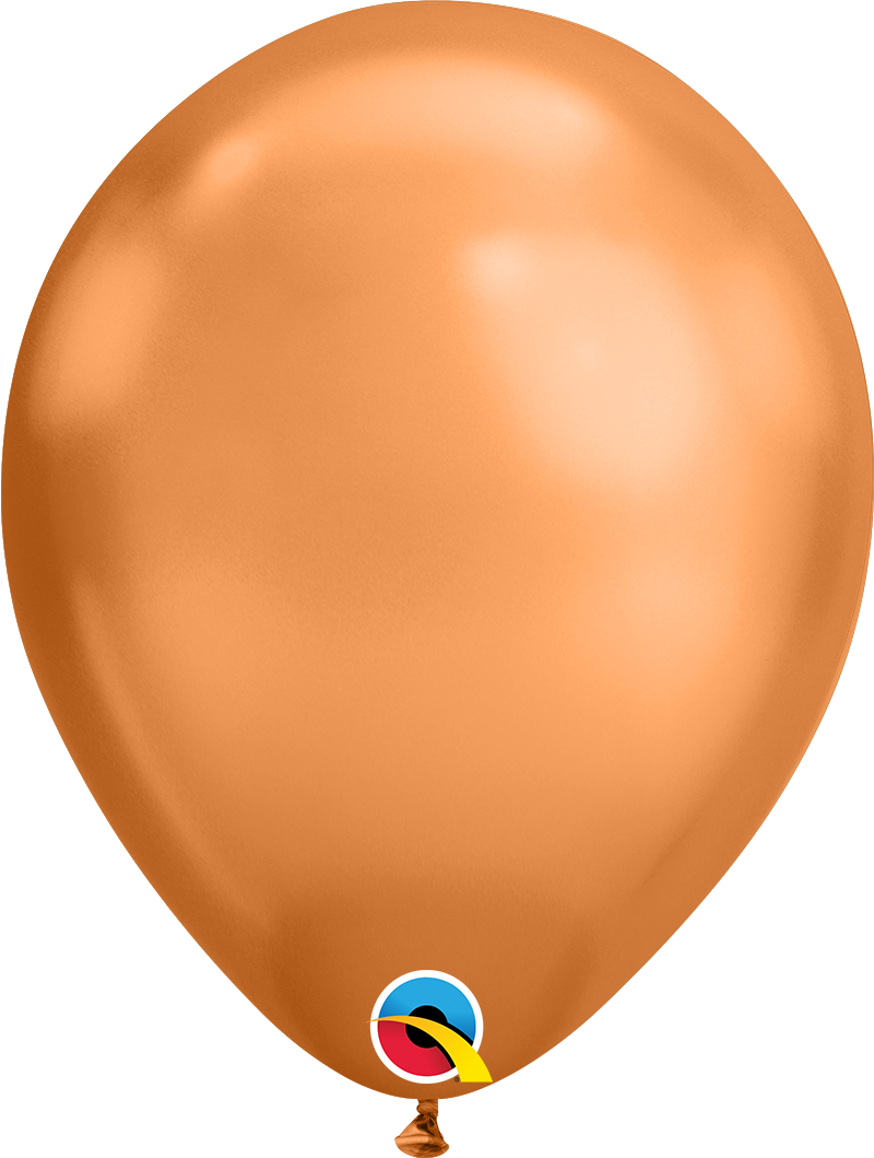Chrome Latex Balloons Copper