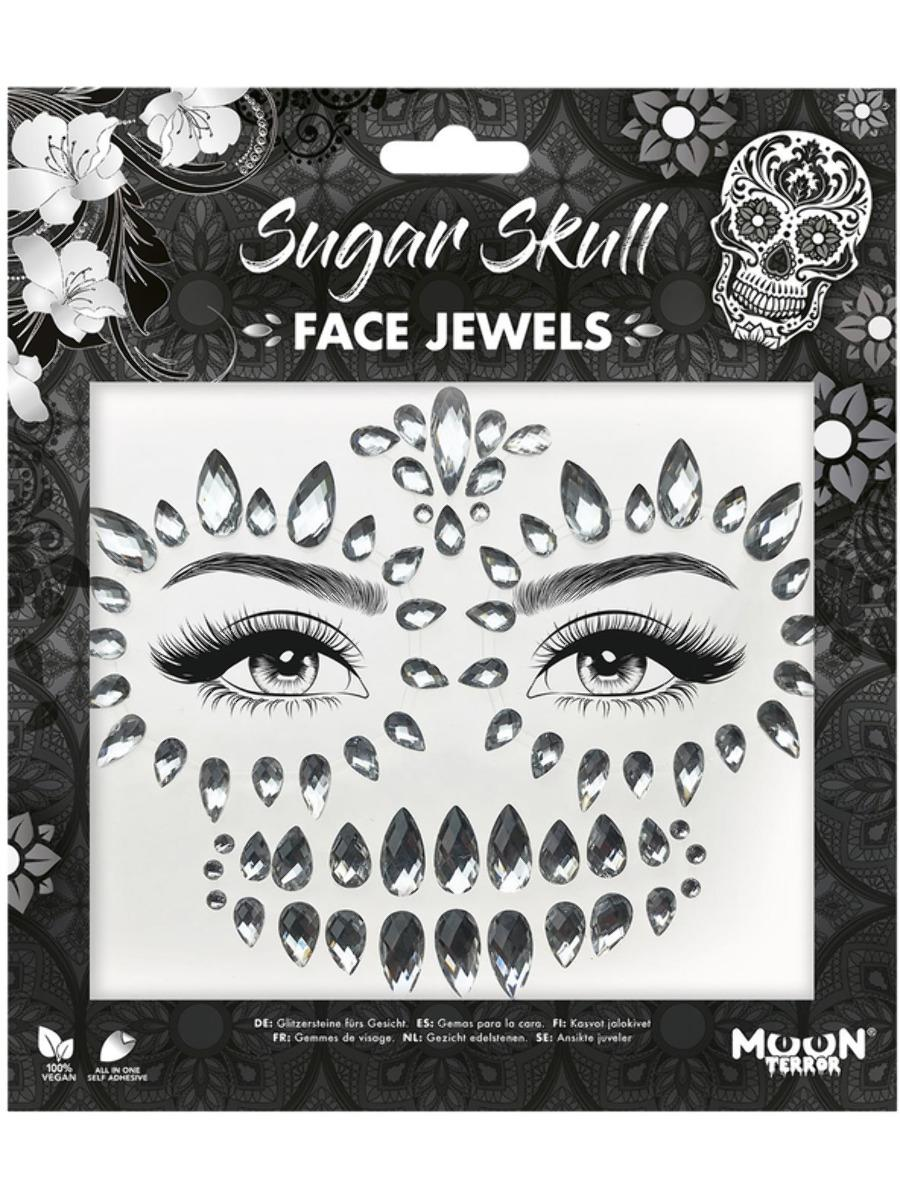 Glitter Face Jewels Sugar Skull
