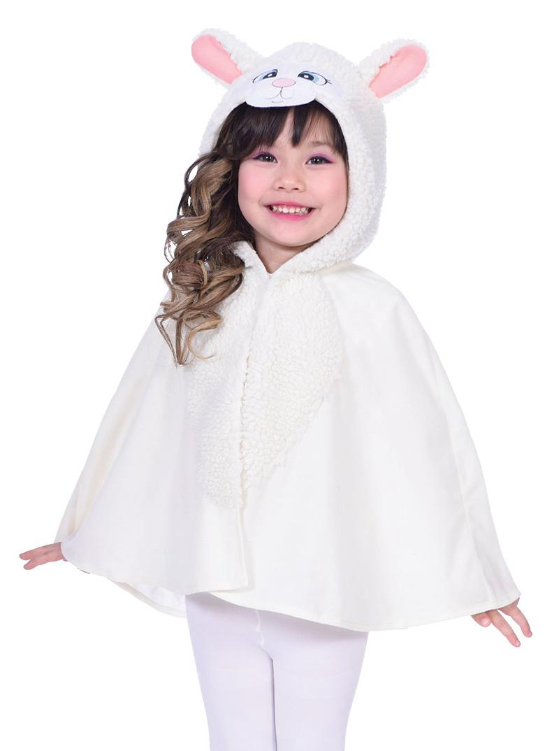 Kids Lamb Poncho Cape Cream