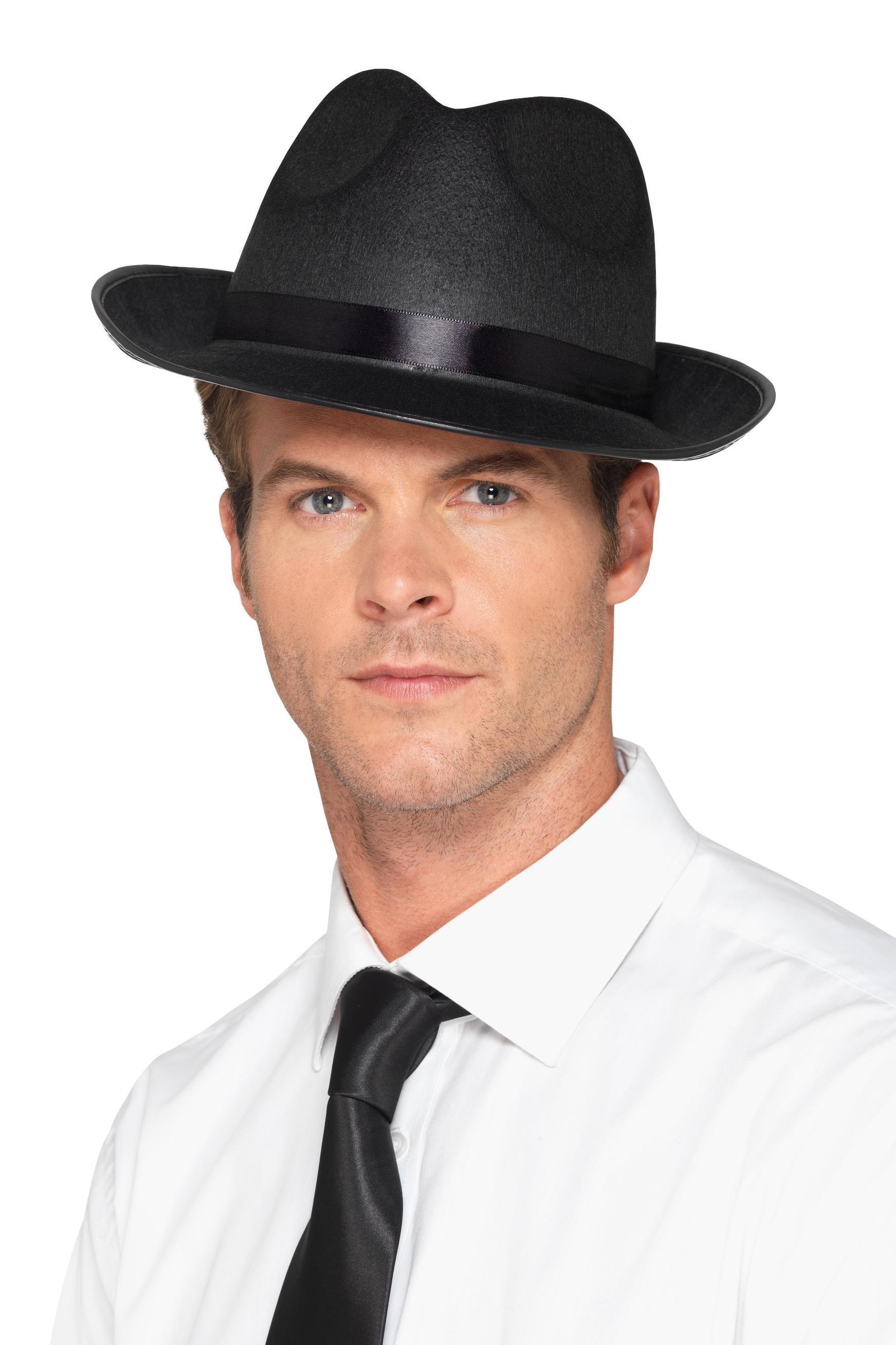 Mens Fedora Hat Black