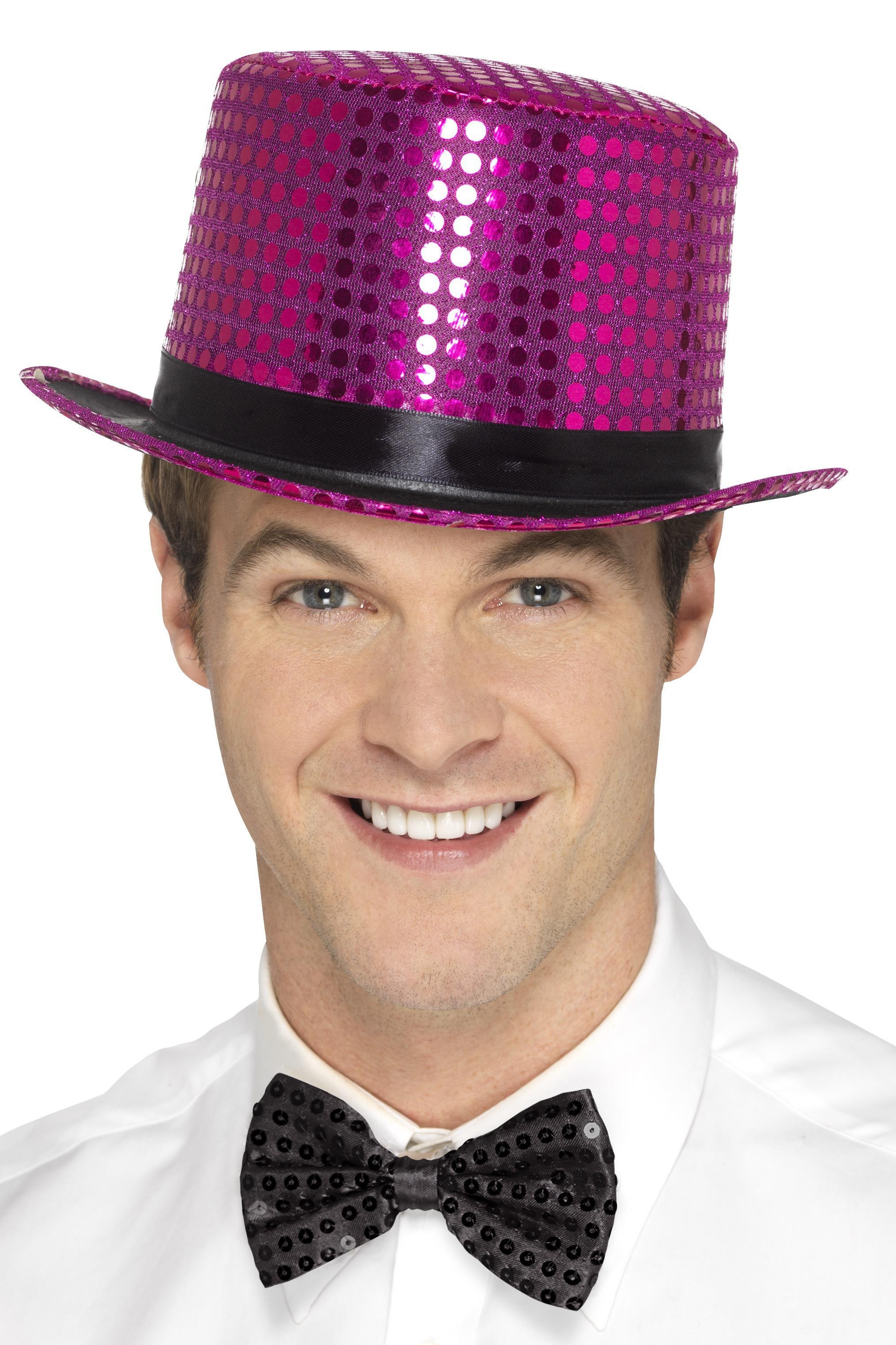 Sequin Top Hat Pink