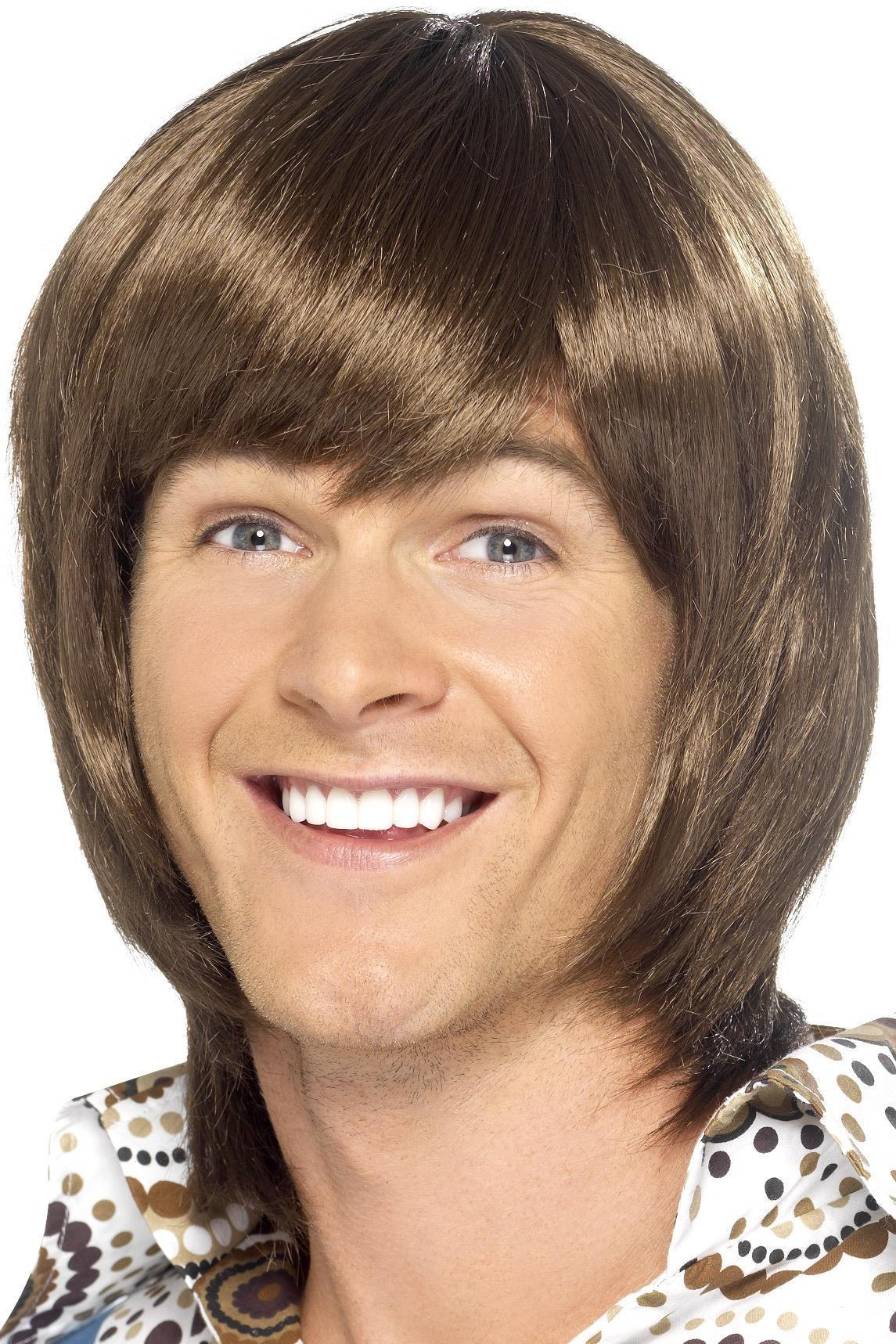 70s Heartthrob Wig Brown