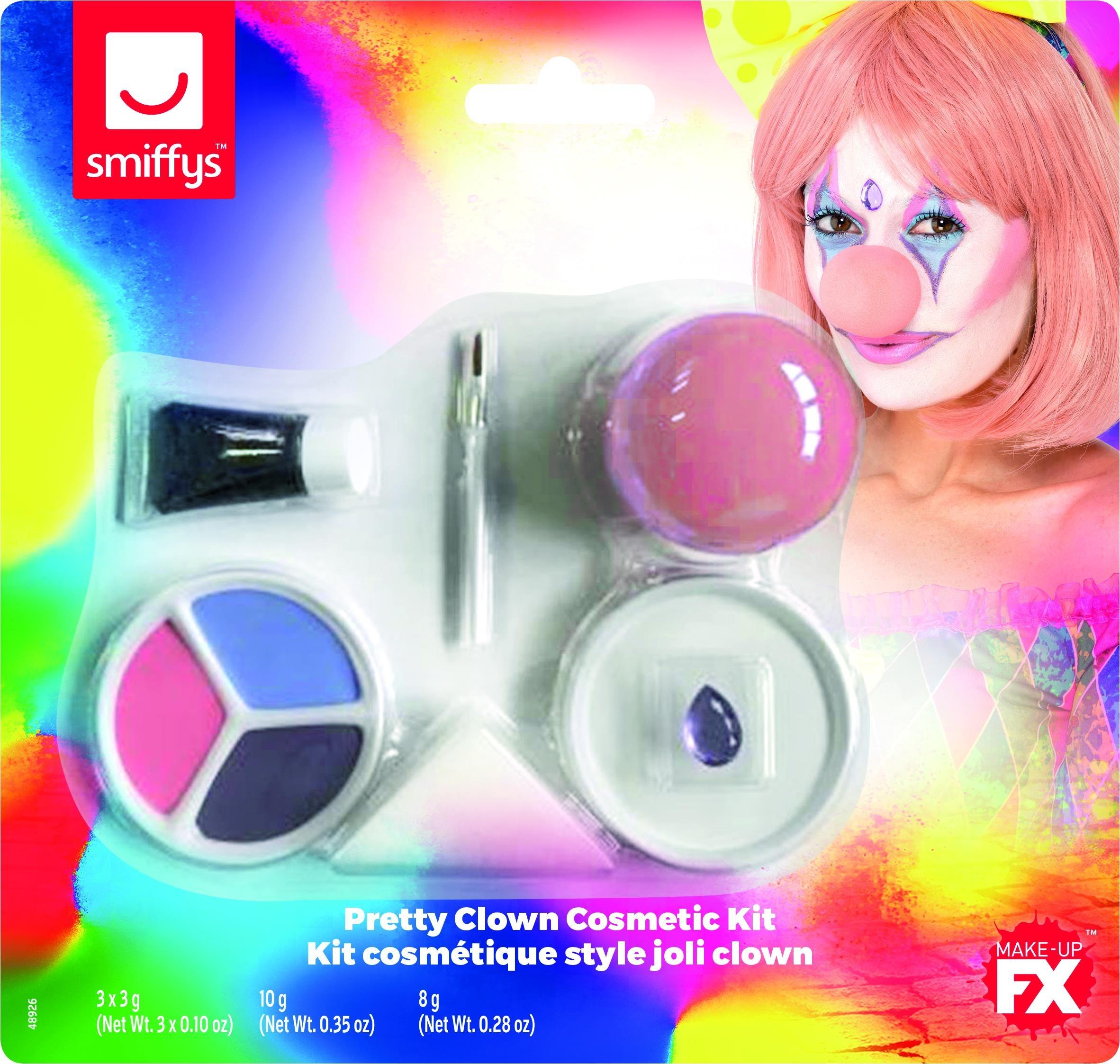 Smiffys Face Paint Kit Pretty Clown