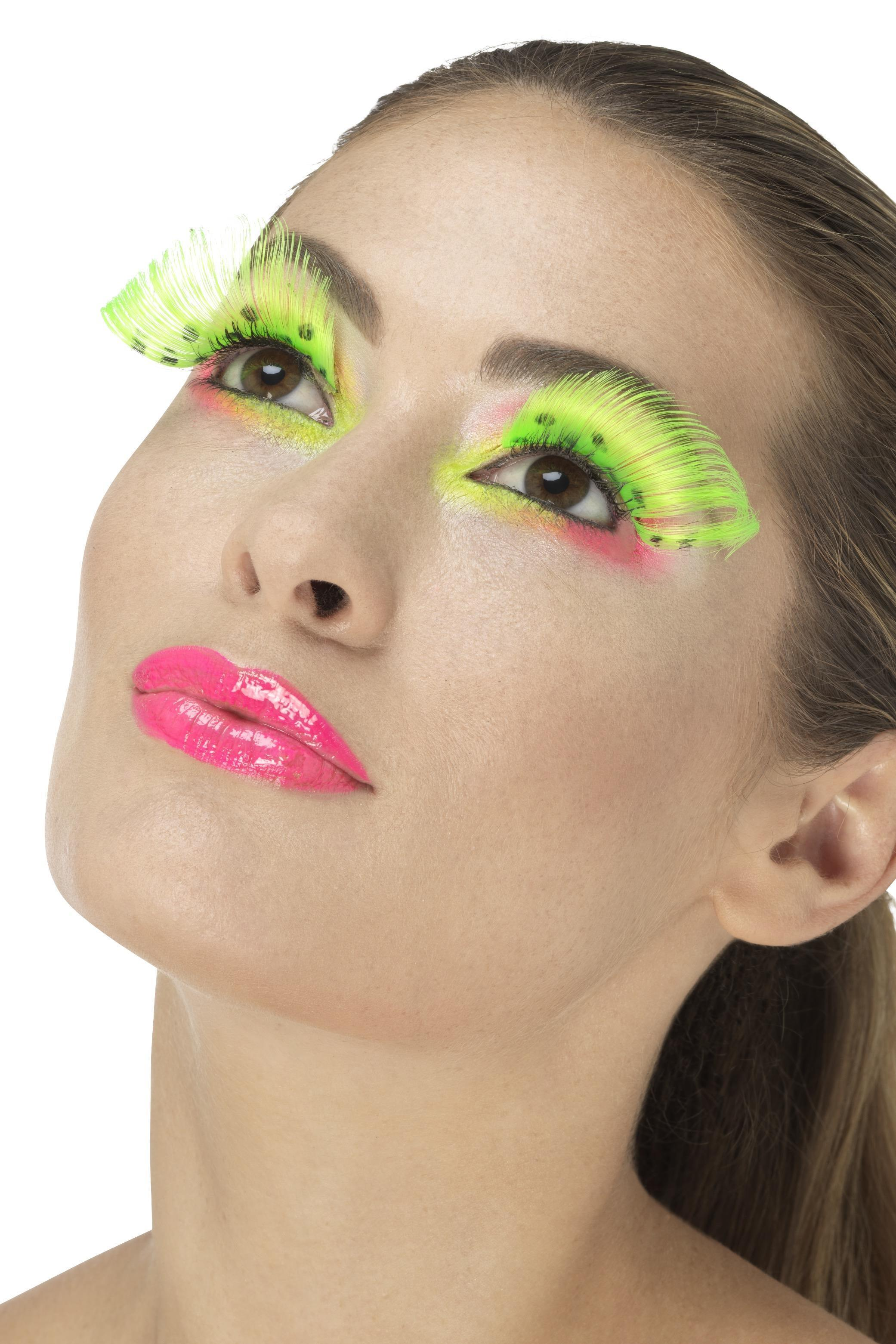 Polka Dot Eyelashes Neon Green