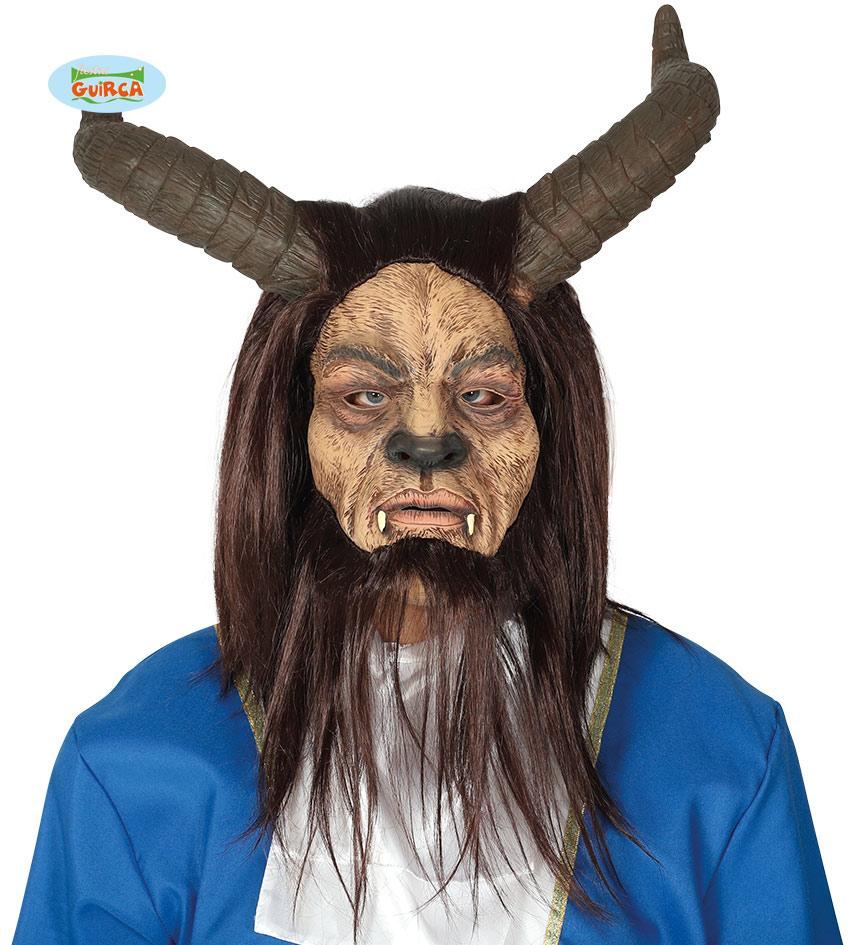 Monster Beast Mask with Hair