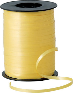 Balloon Curling Ribbon Yellow