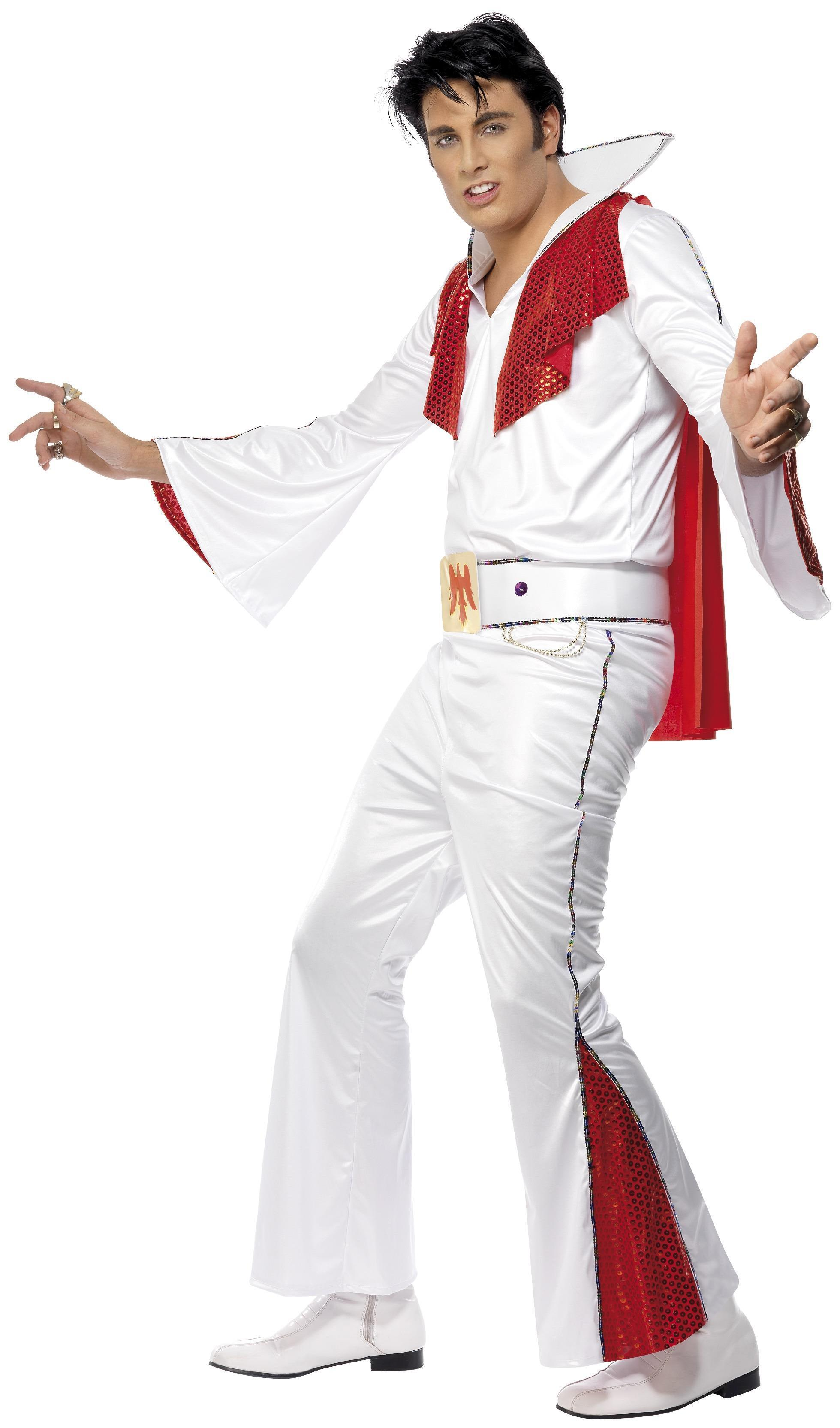 Elvis Presley Costume White & Red