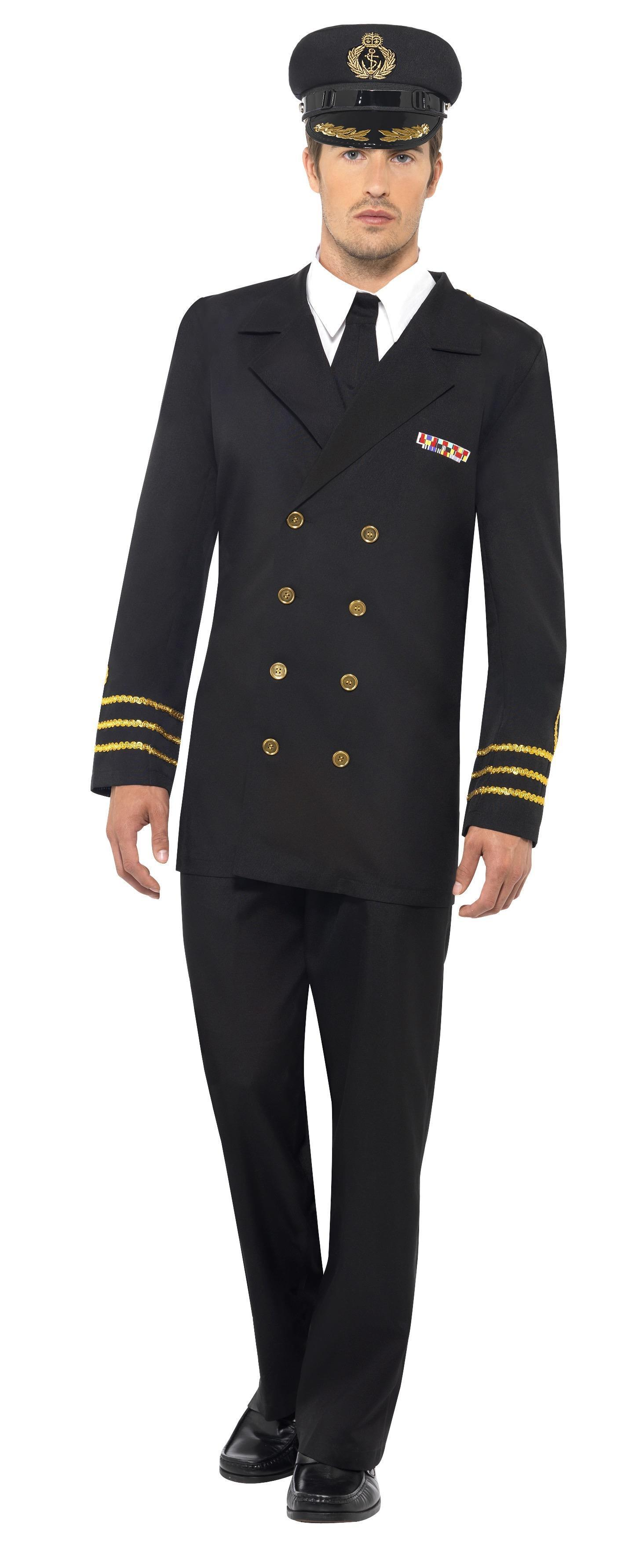 Navy Officer Costume Black
