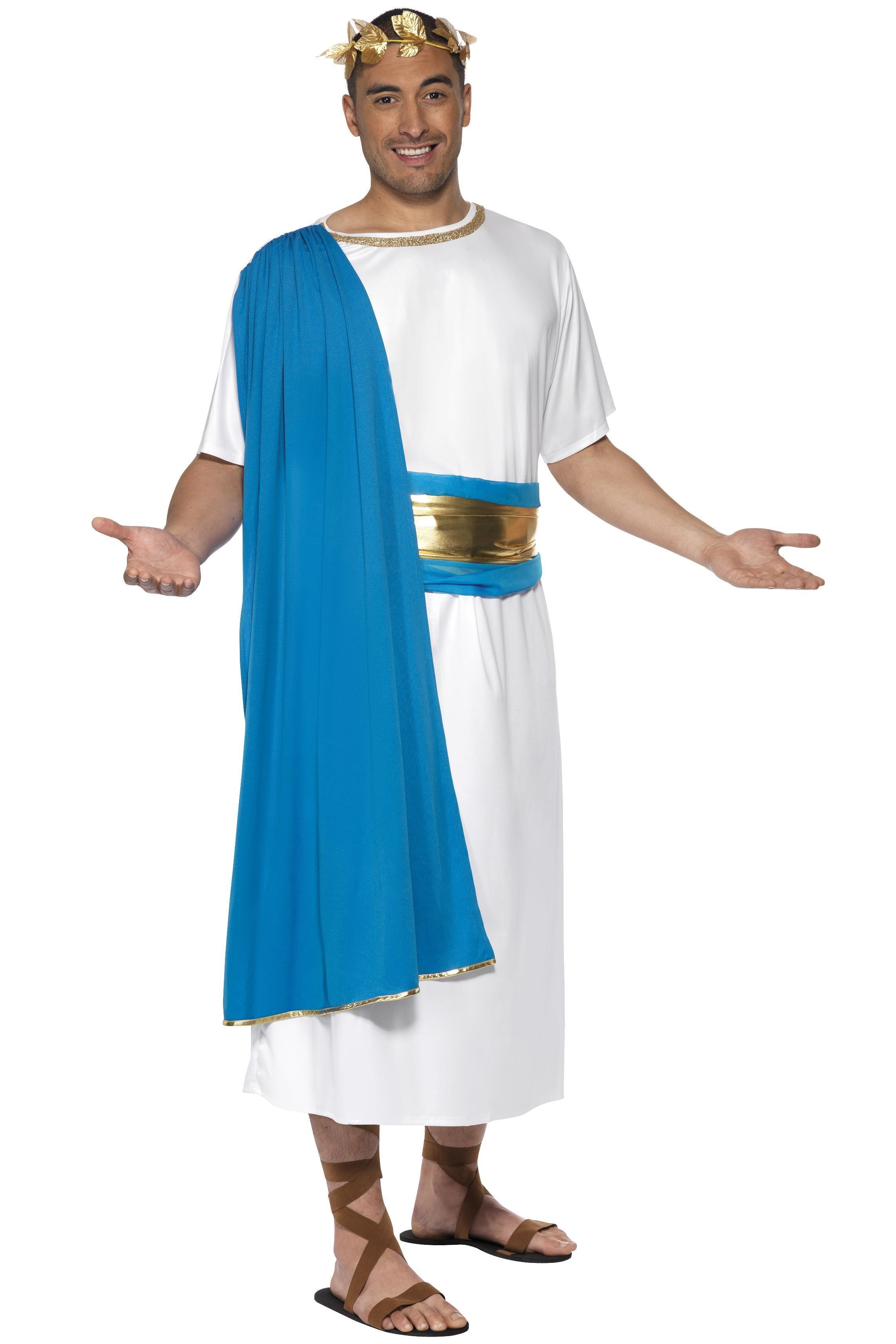 Roman Senator Costume Blue & White