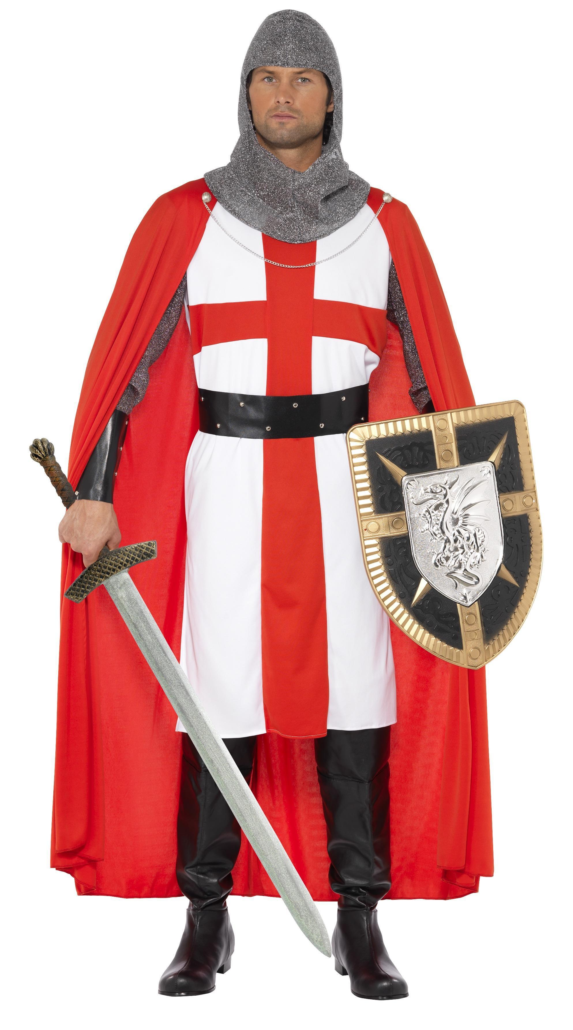 St George Hero Costume Red