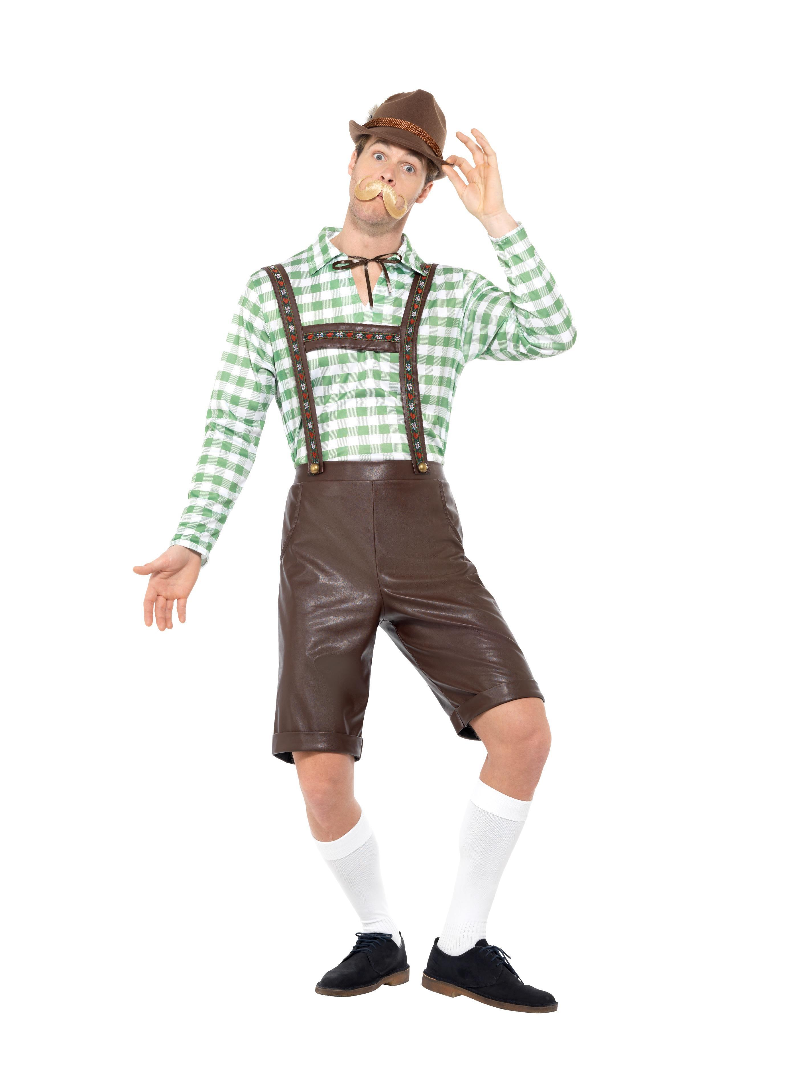 Bavarian Man Costume Green & Brown