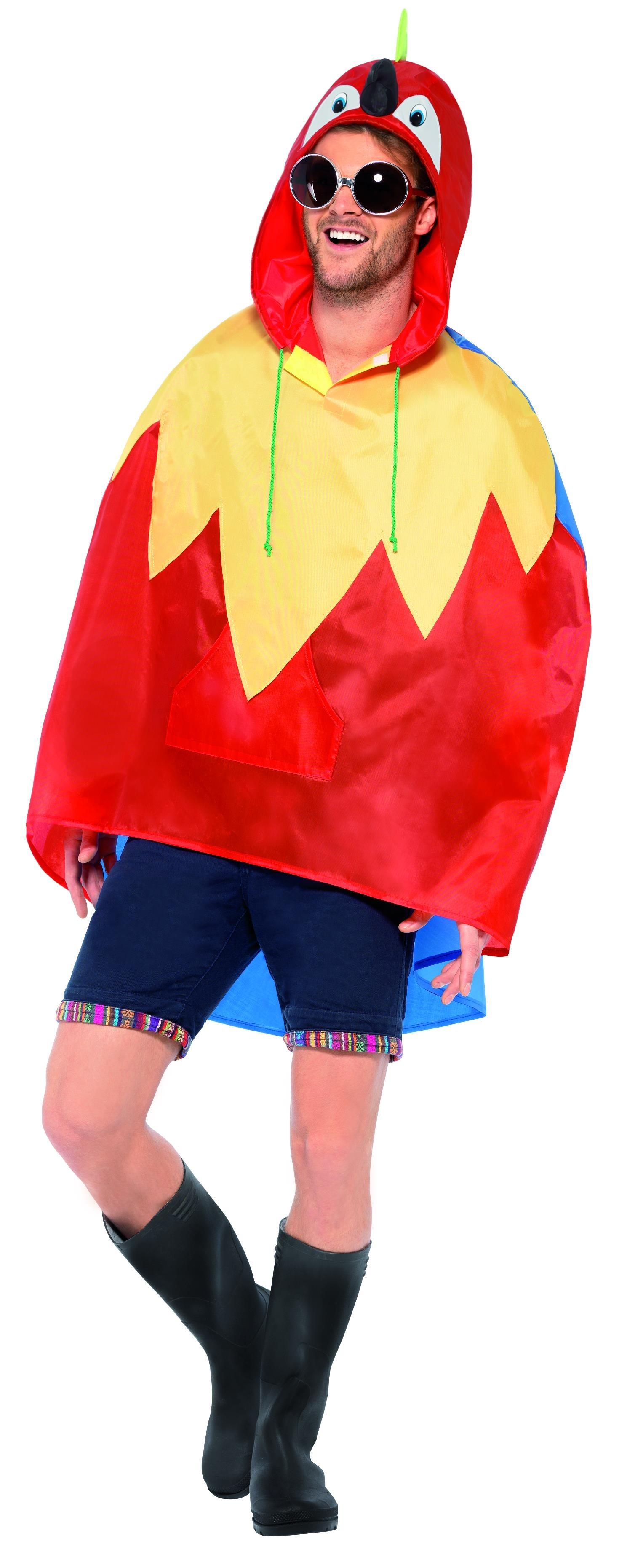 Parrot Party Poncho
