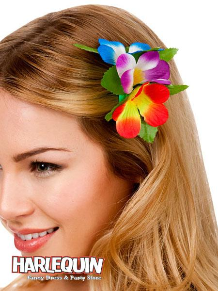 Hawaiian Hair Clip Rainbow