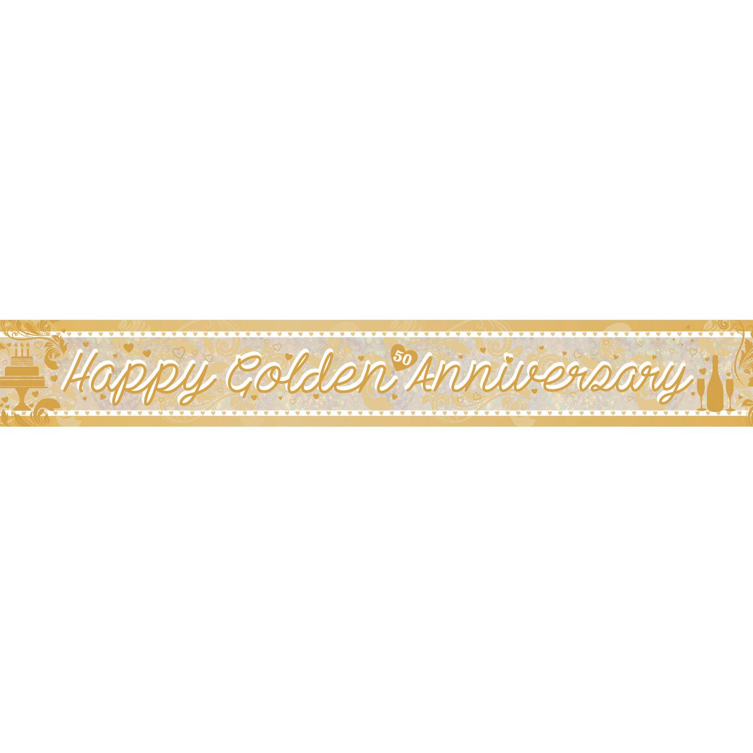 Holographic Banner Golden Anniversary