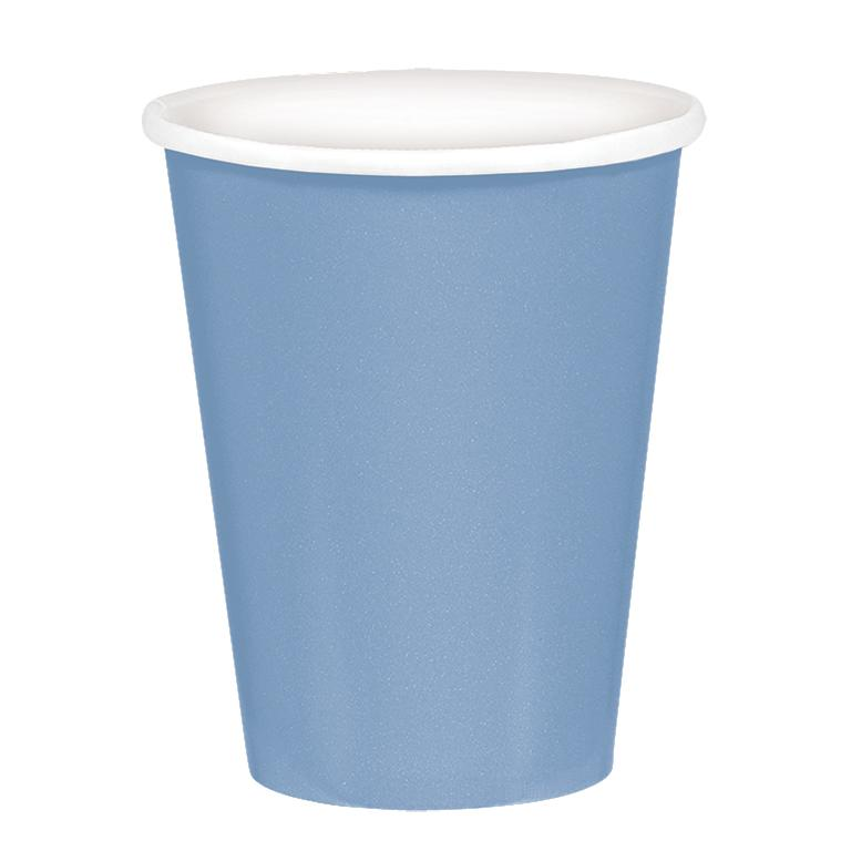 Paper Cups Pastel Blue 8 Pack