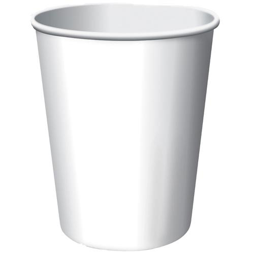 Paper Cups Frosty White 8 Pack