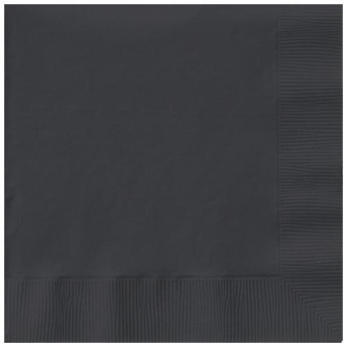 Paper Napkins Black 20 Pack