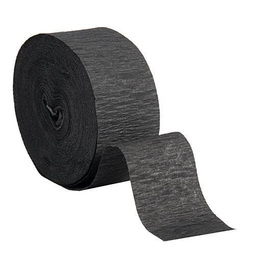 Crepe Streamer Roll Black
