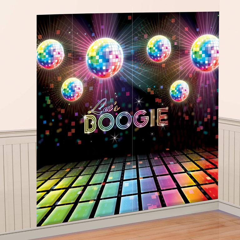Wall Decorating Kit 70s Disco