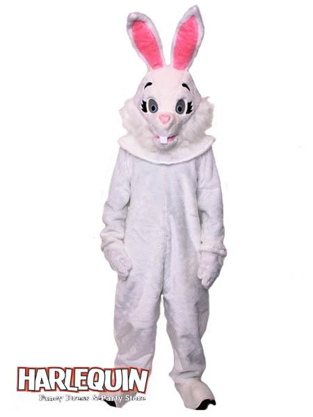White Rabbit Mascot Hire Costume