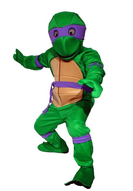 Ninja Turtle Purple Mascot Hire Costume