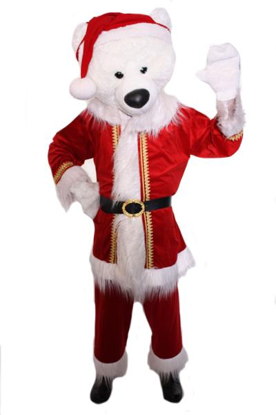 Santa Polar Bear Mascot Hire Costume