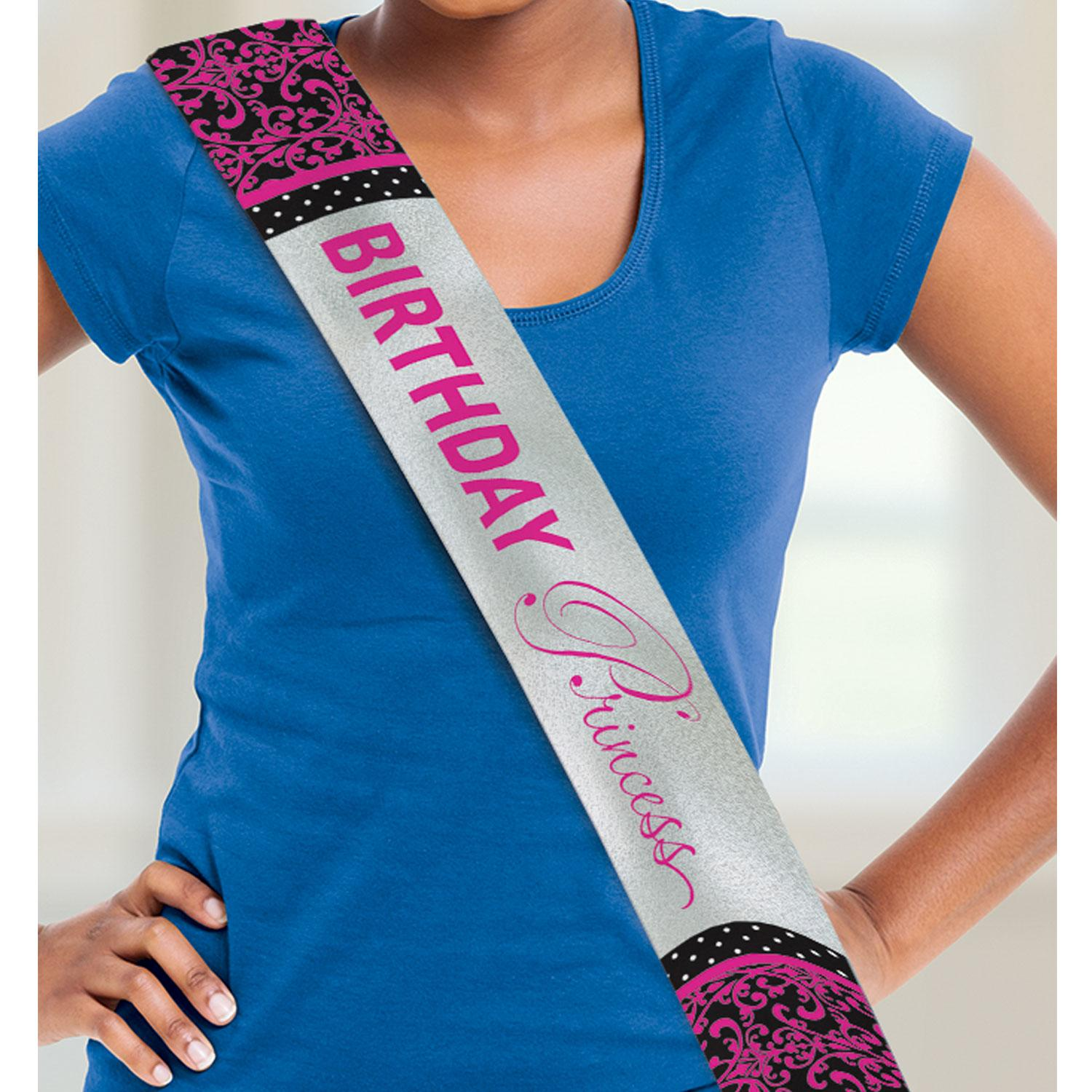 Birthday Sash Pink Princess