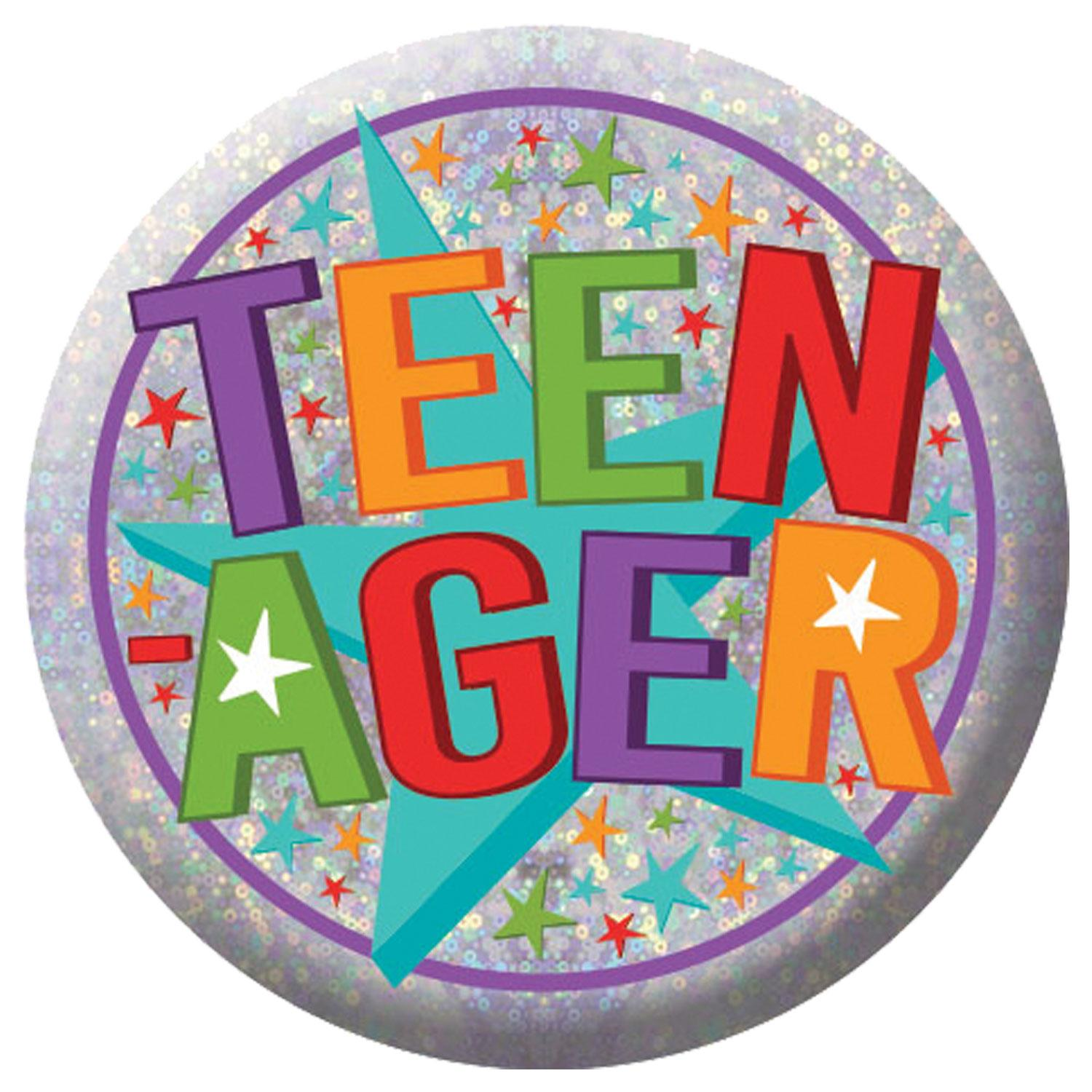 Holographic Badge Teenager