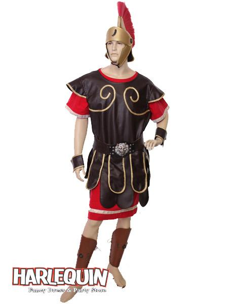 Roman Centurion Hire Costume Red & Brown