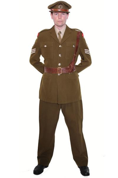 Army Officer Hire Costume Mens