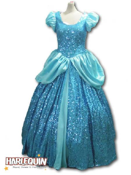 Cinderella Sequin Hire Costume