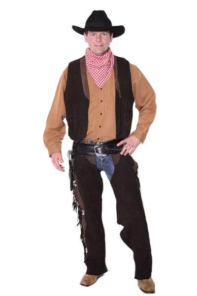 Cowboy Brown Hire Costume