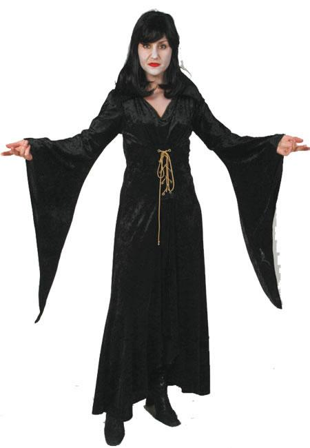 Morticia Witch Hire Costume