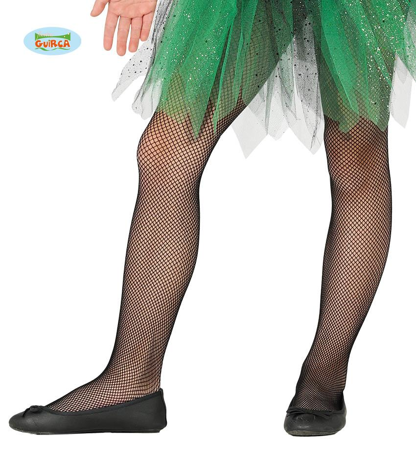 Kids Fishnet Tights Black