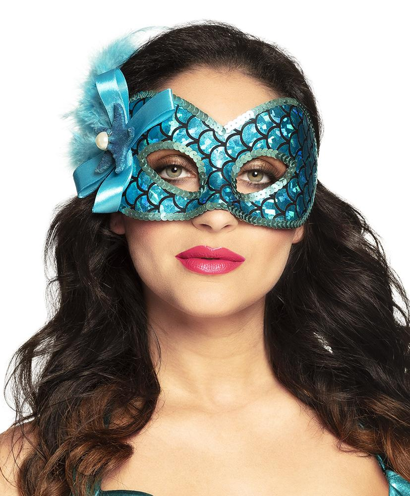 Mermaid Eye Mask Blue