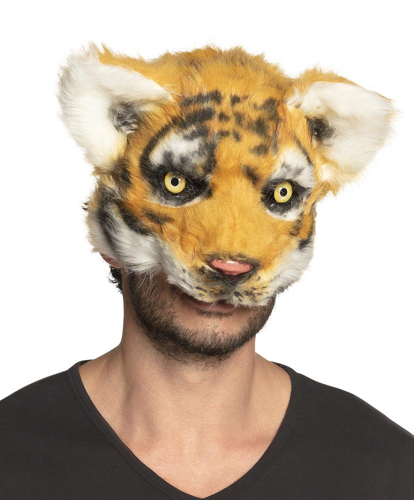 Plush Tiger Half Mask