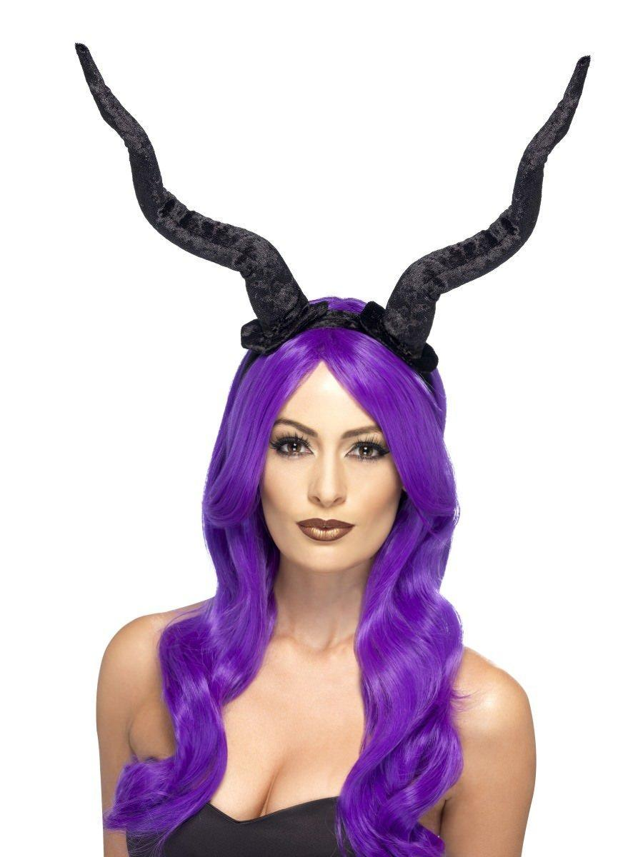 Demon Horns Headband Black