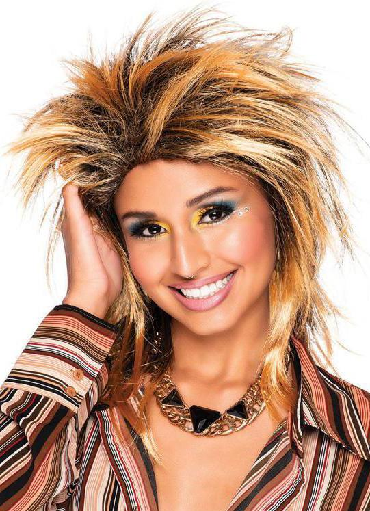 80s Foxy Rocker Wig Golden