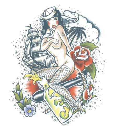 Extra Large Tattoo Sailor Design