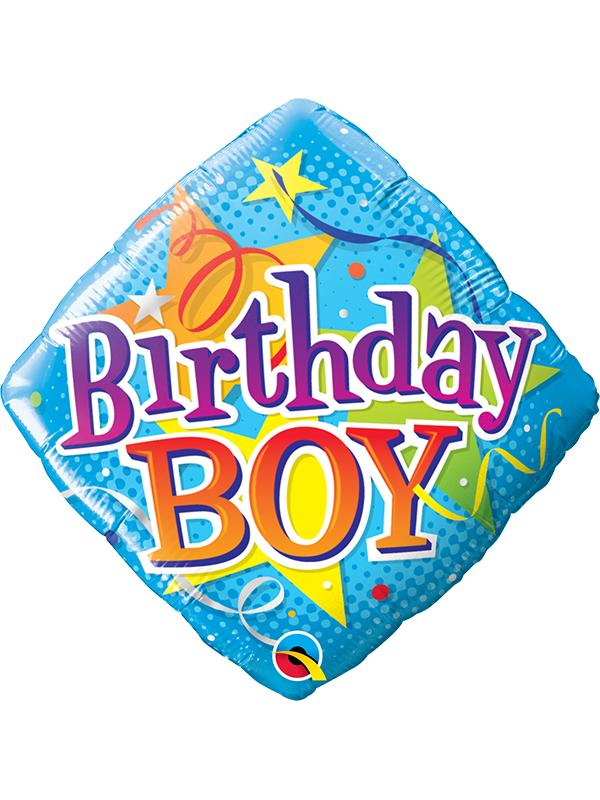 Foil Balloon Birthday Boy Blue