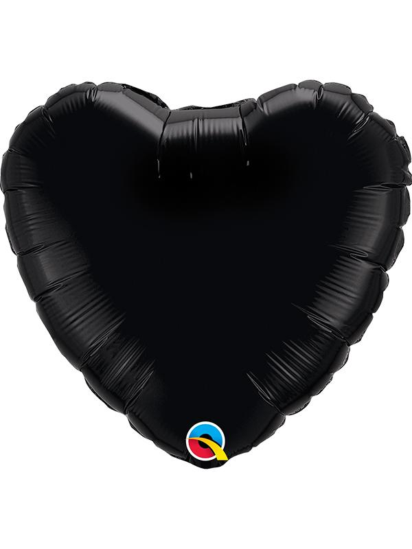 Foil Balloon Heart Onyx Black